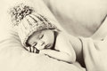 Little gorgeous baby boy with a big hat Royalty Free Stock Photo