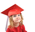 Little Graduate School Baby on White Royalty Free Stock Image