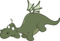 Little green dragon cartoon with wings Royalty Free Stock Photos
