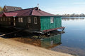 Little green house, Dnieper river, Kiev Royalty Free Stock Photo