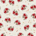 Little hedgehogs holding hearts seamless pattern Royalty Free Stock Photos