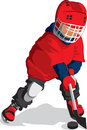 Little hockey player Royalty Free Stock Photo