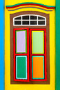 Little india singapore colorful window in Royalty Free Stock Photo