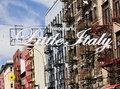 Little italy in new york city sign manhattan street scene Stock Photography