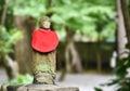 Little japanese buddha sculpture in kōtoku in temple in kamakura Royalty Free Stock Images