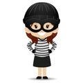 Little kid Girl wearing a Bandit costume