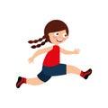 Little kid running icon