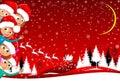 Children happily greet Christmas, children enjoy Christmas