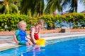 Little kids in swimming pool