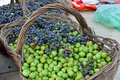 Little kiwis and grapes many special product of china such as Stock Image