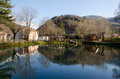 Little lake in the marche region, Visso, Italy Royalty Free Stock Photos