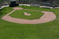 Little league baseball field with green grass and dirt Royalty Free Stock Image