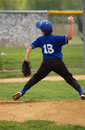 Little league baseball pitcher Royalty Free Stock Images