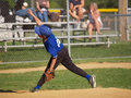 Little league baseball pitcher Royalty Free Stock Photography