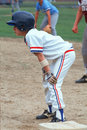 A Little League baseball player Stock Photo