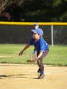 Little league baseball player Royalty Free Stock Images