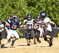 Little League Football Making a Play Royalty Free Stock Photos
