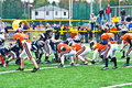 Little League Football Scrimmage Line Royalty Free Stock Photos