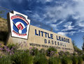 Little league western regional welcome sign san bernardino ca usa august for s al houghton youth baseball complex every august the Stock Photos