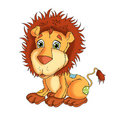 Little lion of roll Royalty Free Stock Image
