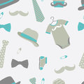 Little man seamless pattern baby shower Royalty Free Stock Photos