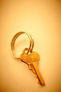 Little metal key. Royalty Free Stock Photography