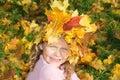 Little miss Autumn Royalty Free Stock Photo