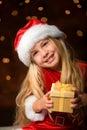 Little miss santa Stock Images