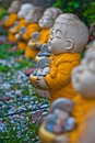 Little monk statues the Royalty Free Stock Photo