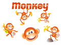 Little monkey character Royalty Free Stock Photos