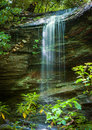 Little Moore cove falls in Pisgah Forest Royalty Free Stock Photo