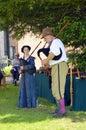 Little Moreton Hall Tudor musicians playing bagpipes