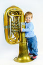Little musician. Stock Photo