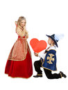 Little Musketeer gives a Heart Gift to his Lady