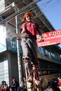 A little nepalese street acrobat Stock Photos