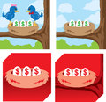 Little nest egg icon different icons of money eggs Royalty Free Stock Photography