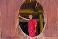 Little novice shwe yan pyay monastery nyaung shwe in myanm myanmar burmar Stock Photography
