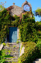 Little old church with ivy in sicily and Stock Photos