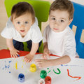Little painters Royalty Free Stock Image