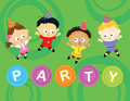 Little party kids 2 Royalty Free Stock Images