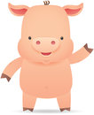 Little Pig waving hand Stock Images