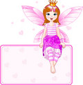 Little pink fairy place card Stock Photography