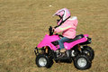 Little Pink Four Wheeler Quad Girl 4 Royalty Free Stock Image