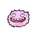 Little pink furball monster Stock Photography