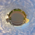 Little planet effect of Arkhangelskoye estate, Moscow Royalty Free Stock Photo