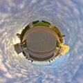 Little planet effect of Arkhangelskoye estate, Moscow Royalty Free Stock Photo