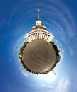 Little planet effect of VDNKh, Moscow
