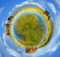 Little planet panorama Stock Photography