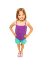 Little pretty girl in purple shirt Royalty Free Stock Photo