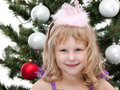 Little princess at the carnival christmas ball Royalty Free Stock Image